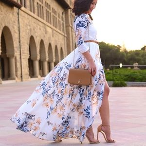 Free People Floral Shirt Maxi Dress Small